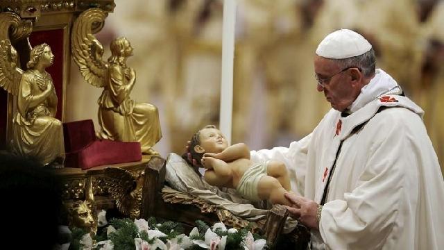 """Slujbele papei Francisc de Craciun, la TVR si Radio Vatican"","