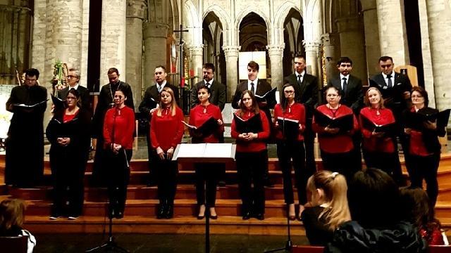 Concert de colinde românesti în Catedrala din Bruxelles,