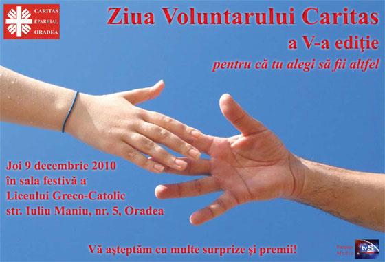 Invitatie – Ziua Voluntarului Caritas,