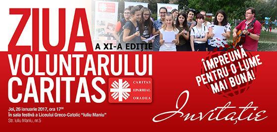 Invitatie: Ziua Voluntarului Caritas,