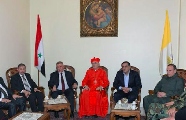 Cardinalul Zenari în vizita la Alep,