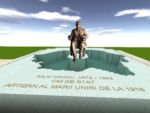 Monumentul lui Iuliu Maniu de la Simleu Silvaniei va fi inaugurat în 5 februarie,