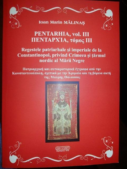 """""""Recenzia volumului PENTARHIA, VOLUMUL III a parintelui Ioan Malinas"""","""