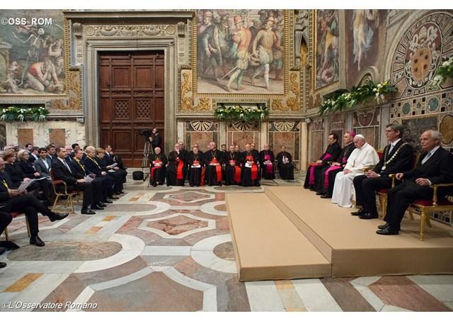 """""""Sefii de stat ai tarilor UE, în audienta la papa Francisc în 24 martie 2017"""","""