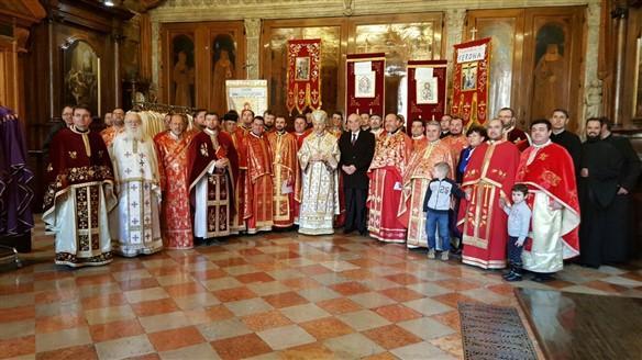 Pelerinajul credinciosilor greco-catolici la Padova,