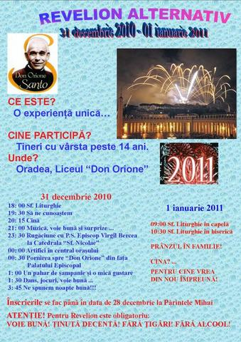Invitatie la Revelion Alternativ la Centrul Don Orione,