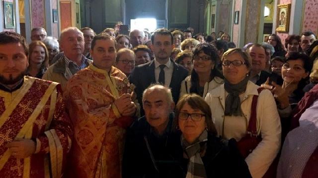 "Vizita ambasadorului României în Italia la parohia greco-catolica ""San Salvatore alle Coppelle"" din Roma,"