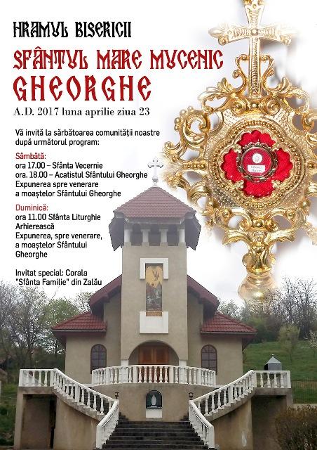 Invitatie: Hramul Bisericii Sfantul Gheorghe,