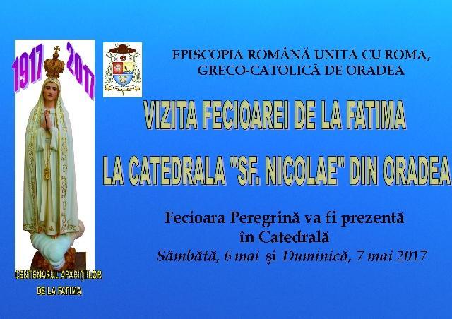 Program: Fecioara de la Fatima Peregrina,