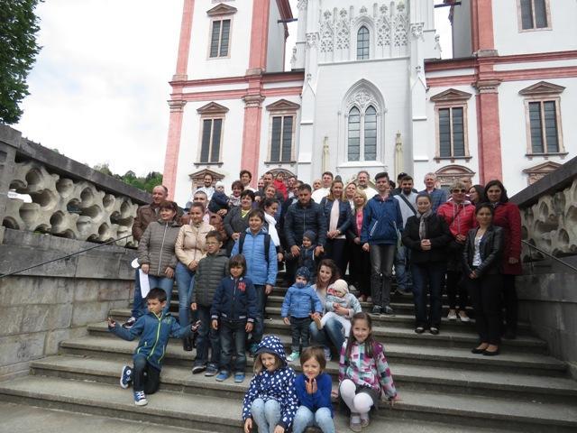 Pelerinajul a patru comunitati românesti din Austria la Mariazell,