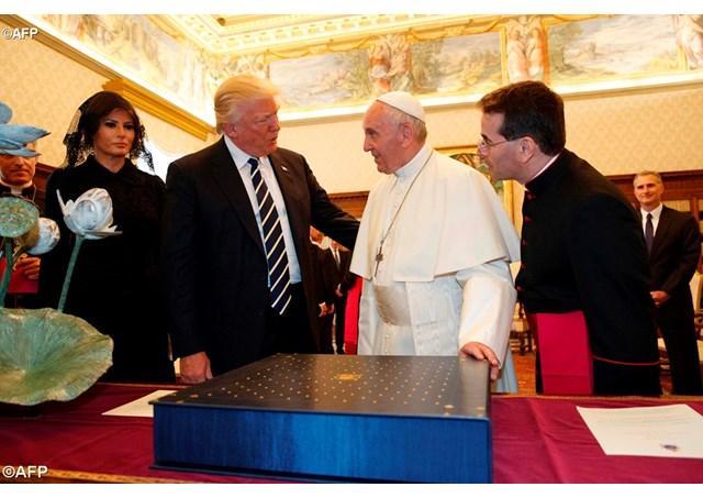 """""""În audienta la papa Francisc, presedintele american Donald Trump"""","""