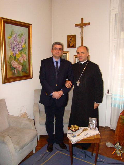 """""""Ministrul Afacerilor Externe al României, Teodor Baconschi, în vizita la Episcopia Greco-Catolica de Oradea"""","""