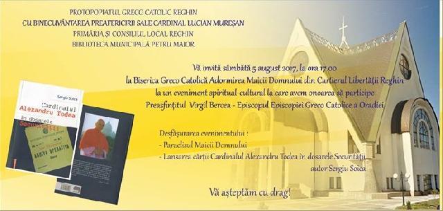 Invitatie: Lansare de carte la Reghin,