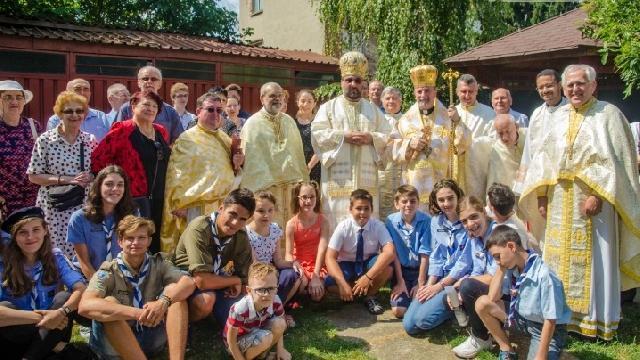 """IPS Cyril Vasil' la sarbatoarea hramului Bisericii """"Adormirea Maicii Domnului"""" din Bucuresti,"""