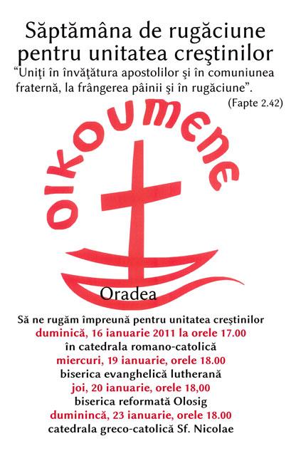Octava de Rugaciune pentru Unitatea Crestinilor la Oradea,