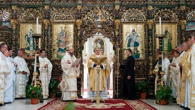 Cuvântul de învatatura al Cardinalului Sandri în Catedrala Blajului,
