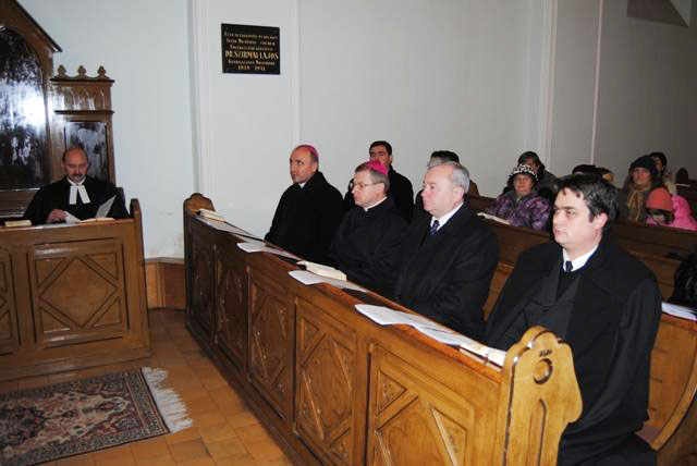 Rugaciune ecumenica la Biserica Evanghelica Luterana,