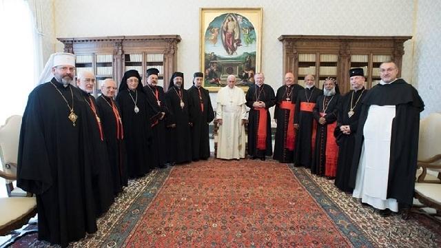 Patriarhii si Arhiepiscopii majori ai Bisericilor Orientale Catolice în audienta la Papa Francisc,