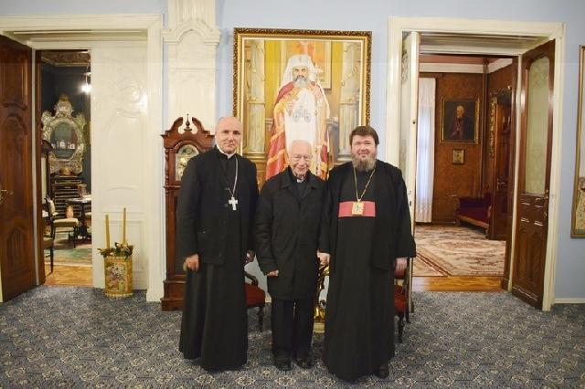 Preasfintitul Parinte Sofronie a primit vizita Cardinalului Francesco Coccopalmerio,