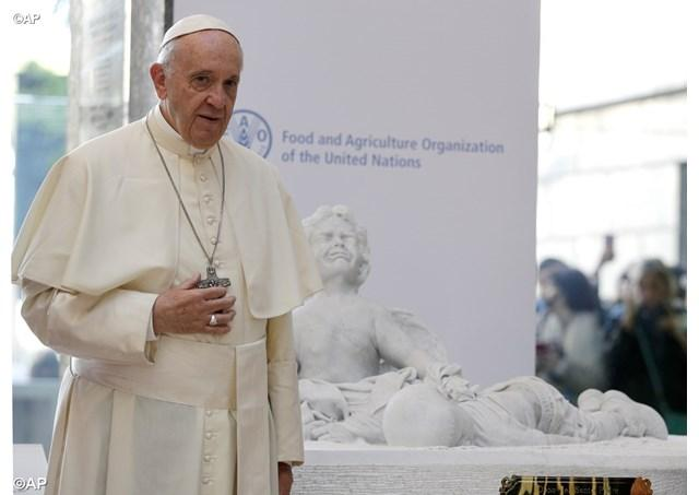 """Cooperarea internationala sa includa categoria iubirii: papa Francisc, la FAO"","