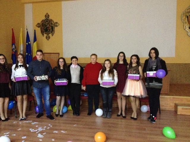 Petrecere de bun venit pentru elevii cazati în internatul Liceului Greco-Catolic,