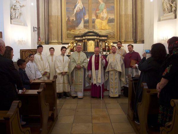 Vizita abatelui Bakovski de la manastirea Klosterneuburg la Misiunea Româna Unita din Viena,