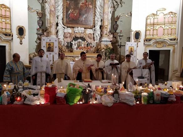 """Sfântul Maslu în Parohia """"Sfânta Maria in Araceli"""" din Vicenza,"""