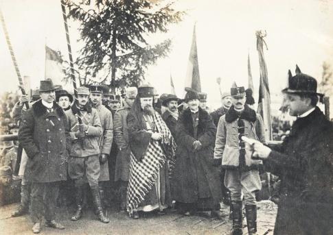 """""""Discursul Episcopului Greco-Catolic Iuliu Hossu la Alba-Iulia, la 1 Decembrie 1918"""","""