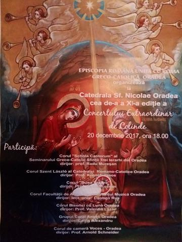 """Invitatie: Concertul de colinde – Catedrala """"Sfântul Nicolae"""","""