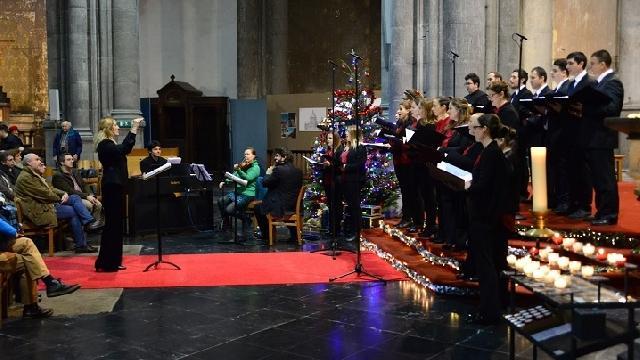 Colinde românesti în Biserica Regala Sfânta Maria din Bruxelles,