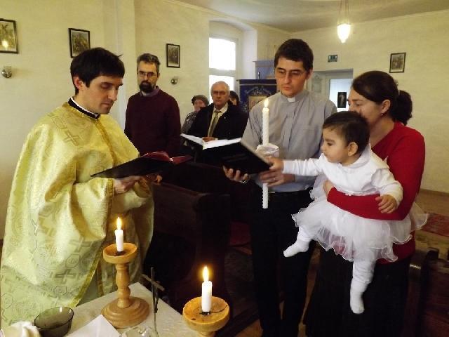 Taina Sfântului Botez în Parohia Bobota,
