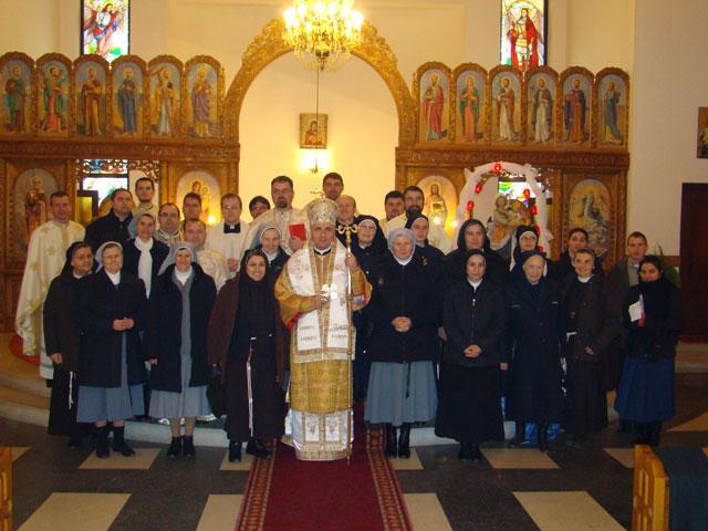Ziua persoanelor consacrate sarbatorita la Manastirea Maica Domnului din Oradea,