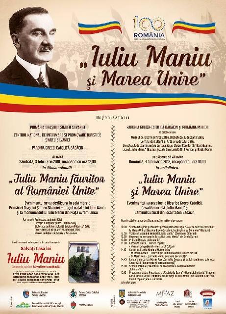 """""""Omagiu lui Iuliu Maniu si Marii Uniri, la Simleu Silvaniei si Badacin"""","""