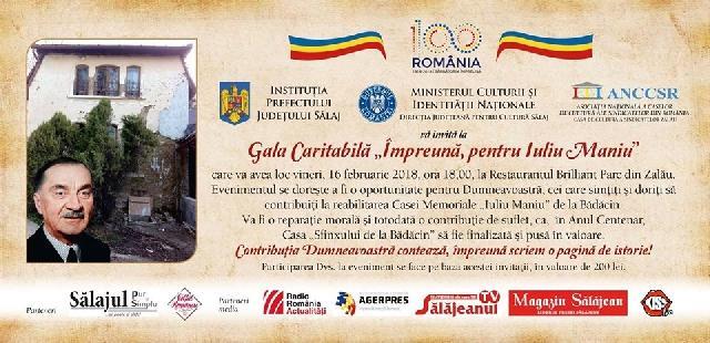 """""""Gala Culturii Salajene, prilej de strângere de fonduri pentru Casa Memoriala """"Iuliu Maniu"""""""","""