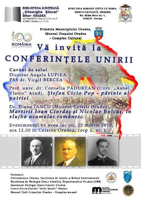 Invitatie: Conferintele Unirii,