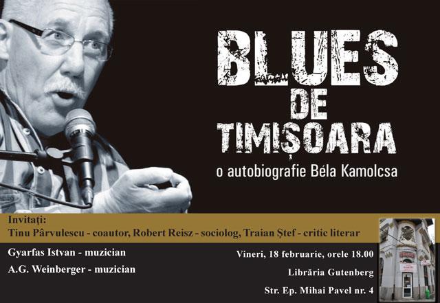 """Comunicat Caritas – lansarea cartii """"Blues de Timisoara. O autobiografie"""" de Béla Kamocsa,"""