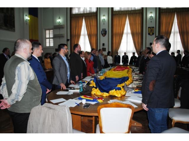 MOMENT FESTIV ÎN SALA MARE A PRIMARIEI ORADEA: 100 ANI DE LA UNIREA BASARABIEI CU ROMÂNIA,