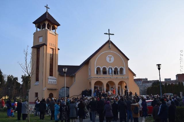 Calea Crucii la Manastirea Franciscana,