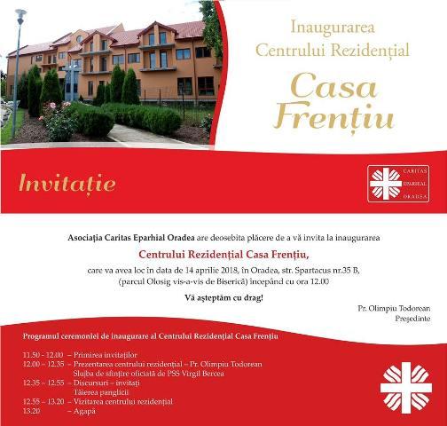 Inaugurarea Centrului Rezidential Casa Frentiu,