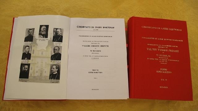 Predarea documentatiei Cauzei de beatificare a episcopilor greco-catolici catre Congregatia Cauzelor Sfintilor,