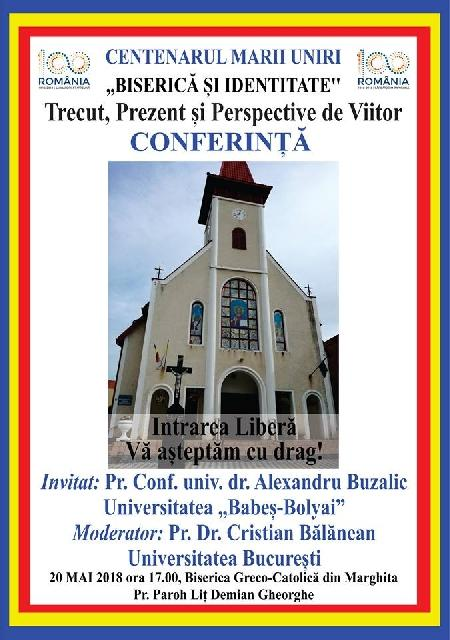 Invitatie: Conferinta dedicata Unirii la Marghita,