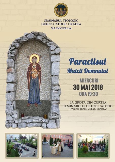 Invitatie la rugaciune în Luna Mai: Paraclisul Maicii Domnului la Grota din curtea Seminarului Teologic,