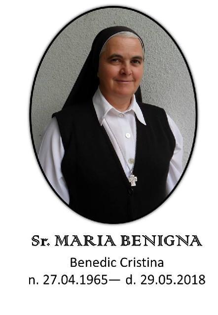 """""""A trecut la Domnul, sora Maria Benigna Benedic"""","""