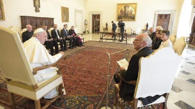 """""""La papa Francisc, o delegatie a Bisericii evanghelice luterane germane"""","""