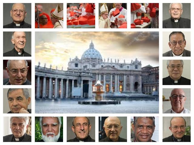 Cei 14 noi cardinali ai Bisericii Catolice,