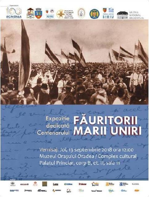 Expozitie dedicata Centenarului: Fauritori Marii Uniri,