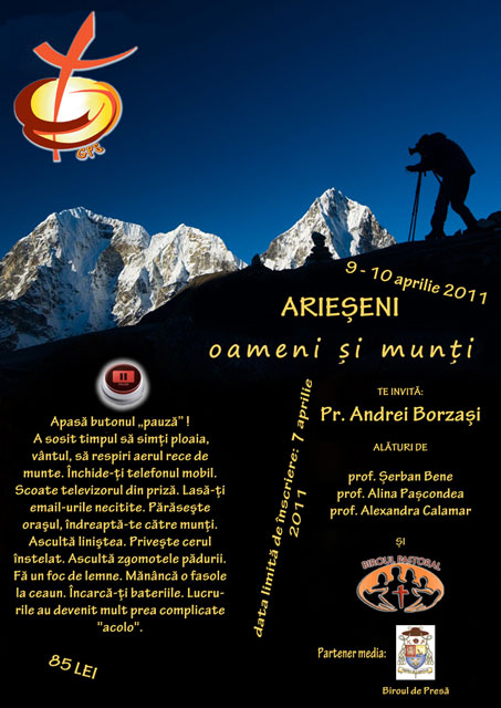 Invitatie pentru tineri la Arieseni,