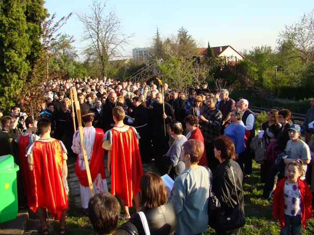 Calea Crucii pe Dealul Ciuperca,