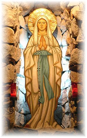 Programul devotiunilor în cinstea Maicii Domnului pe luna mai 2011 la grota din curtea Seminarului Teologic,
