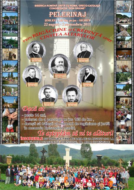 Invitatie la Pelerinajul Simleu Silvaniei – Sighetu Marmatiei – 22 aug.-1 sep. 2011,